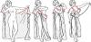 Выкройка простого пляжное платье в греческом стиле - Выкр.