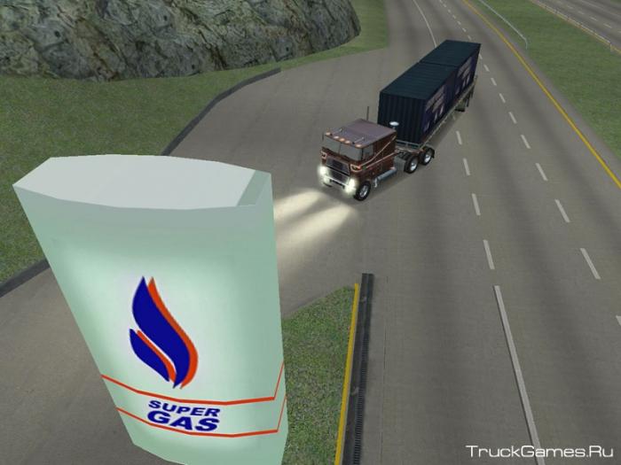 Геймплей видео для 18 стальных колес По дорогам Америки / 18 Wheels