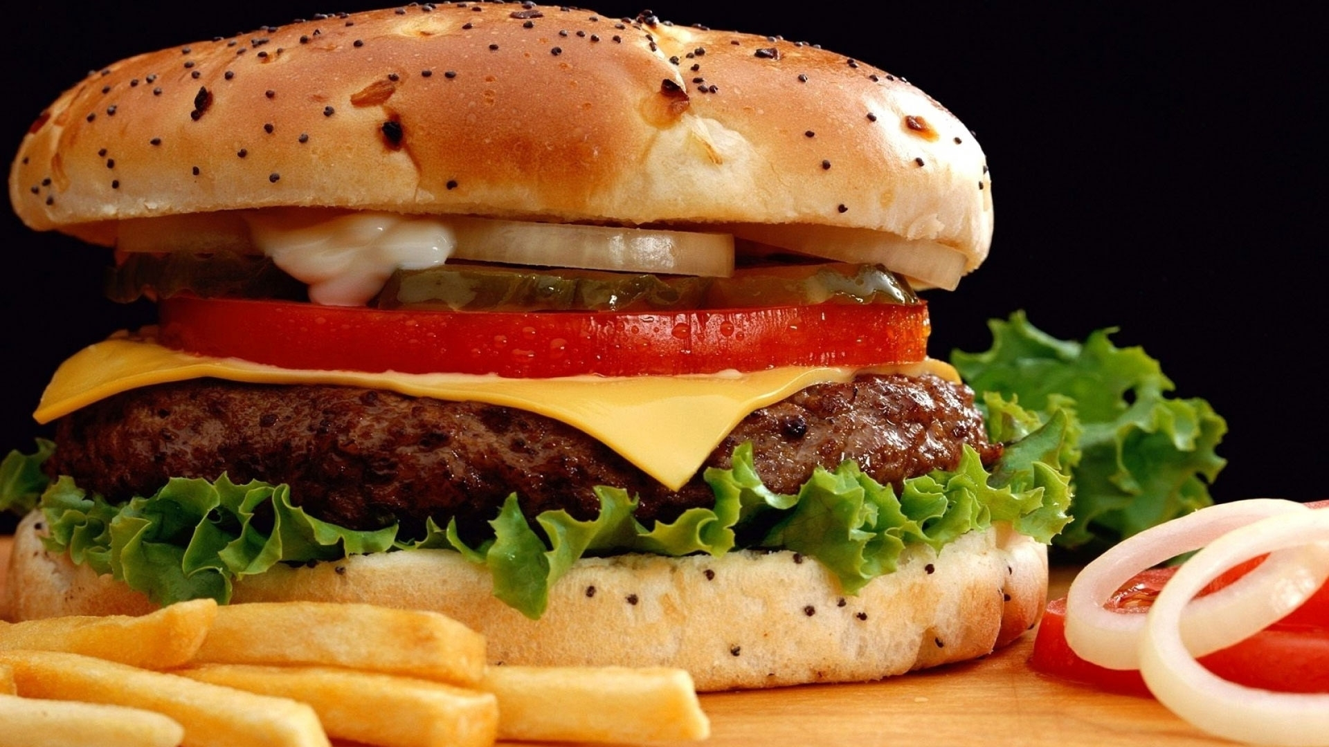 High speed hamburger with fast fries recipe dishmaps for Burger de